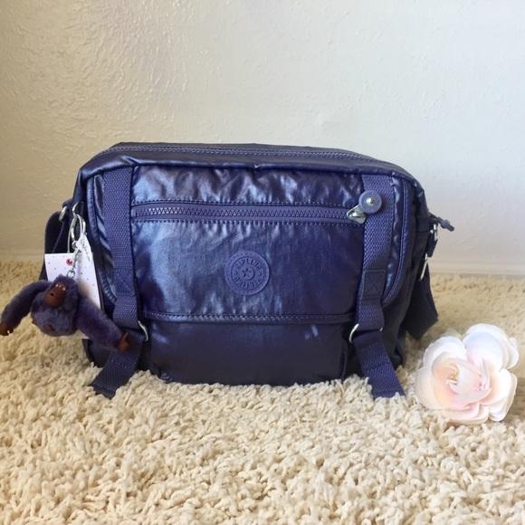 9a1c01ccd1 Kipling Bags | Gracy Messenger Bag Metallic Purple | Poshmark