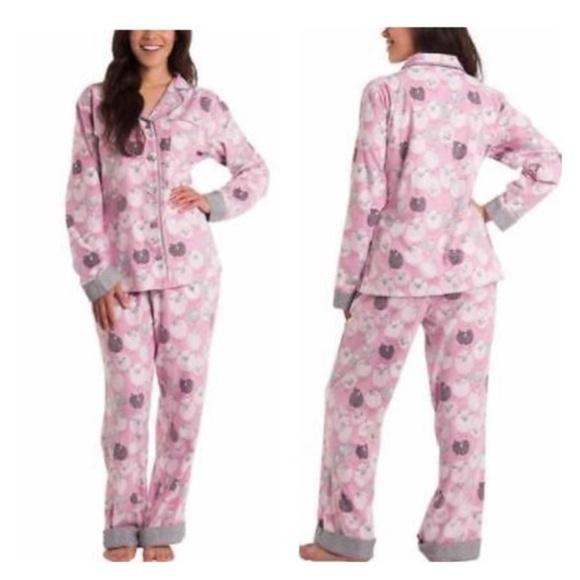 ea359358aa632 Munki Munki Intimates & Sleepwear | Sheep Flannel Pajama Set New ...
