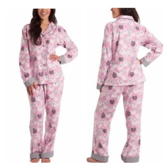 Munki Munki Sheep Flannel Pajama Set. NEW! cd5189112