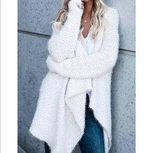 Volcom}• fuzzy soft long open Cardigan