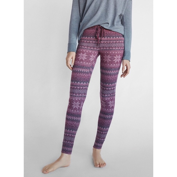 67% off Express Other - ▫ Express Cozy Fair Isle Leggings ...