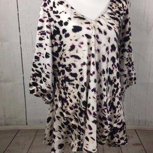 DKNY Jeans Animal Print Top