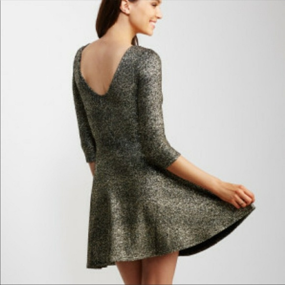 20de6354979 Aeropostale Dresses   Skirts - Aeropostale Bethany Mota Gold Foil Party  Dress