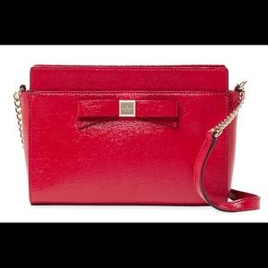 Kate Spade Angelica Montfort Park Pillbox Red Bag