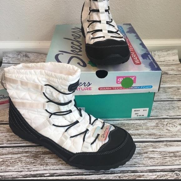 5eec198bfa288 Skechers Shoes | Boots Comfort Memory Foam Slip On Ankle | Poshmark