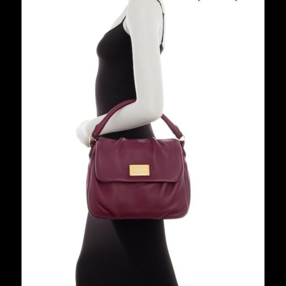 2f57a300f8cc Marc Jacobs Classic Leather Shoulder Bag Aubergine
