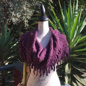 Accessories - New!! Infinity Fringe Scarf - Purple