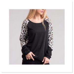 Leopard Print Long Sleeve Tunic