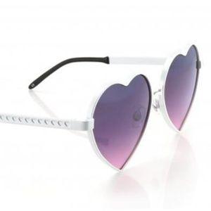 Lolita 💓 heart shaped sunglasses by WILDFOX