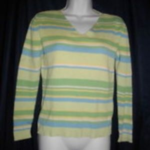 Cherokee Small Multicolored Long Sleeve Sweater