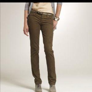 JCrew matchstick corduroy pants