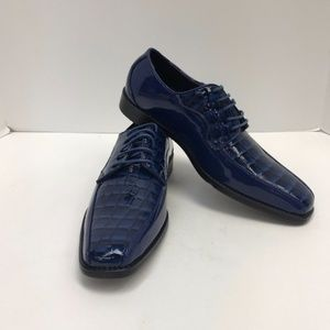 Men's Bolano Royal Blue Dress Shoes Size 8.5 New