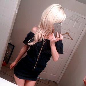 🐙 ɞåɞʏԀọll Off Shoulder Lace ṃıṅı Dress