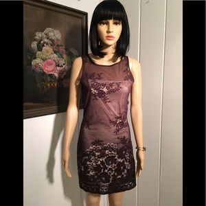 Dresses & Skirts - BROWN LACE COCKTAIL DRESS SIZE 5