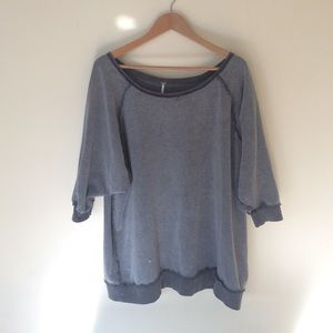Free People Oversized Reversed Sweater XS