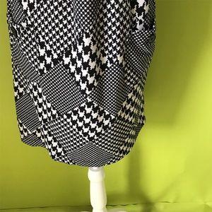 Speechless Dresses - Speechless Glencheckered Black White Hood Dress XL
