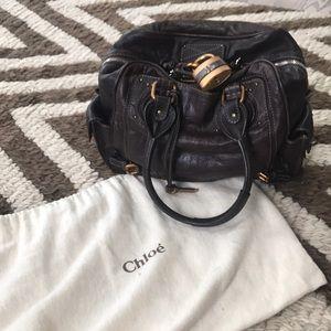Authentic Chloe Leather Paddington bag