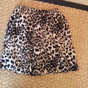 Aqua Leopard Print Skirt