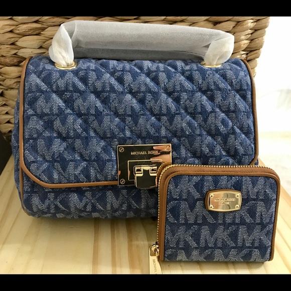 93c5d2839248 Michael Kors Bags   Vivianne Medium Denim Purse Wallet   Poshmark