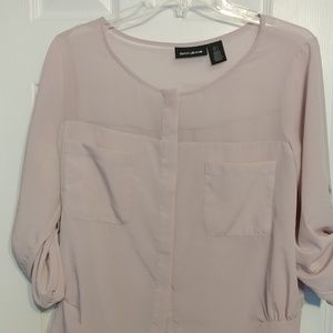 DKNY light pink blouse