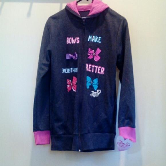 a5f5a863372 Jojo Siwa girls zippered hoodie