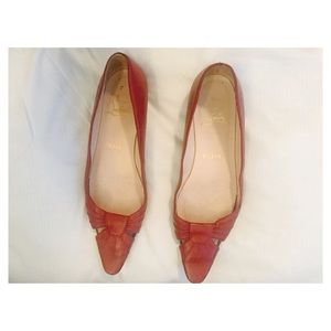 Authentic Louboutin red flats