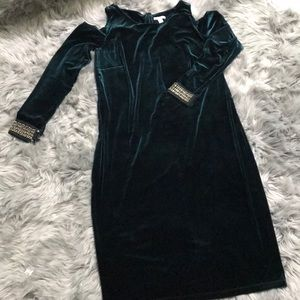 NWT velvet off shoulder dress