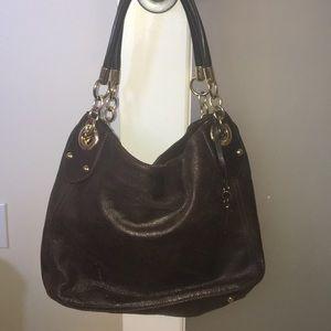 Cynthia Rowley brown metallic purse