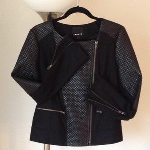 🍃🌹Trouve -  Deep Onyx Quilted Jacket 🍃
