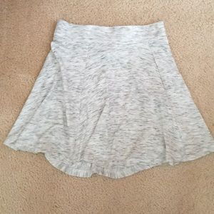 Gray/White H&M Skater Skirt