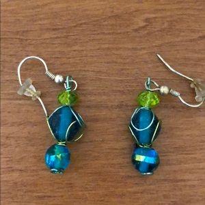 Jewelry - Aqua blue and green earrings
