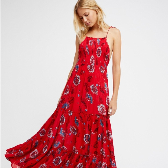 7bbf94c4bef NWT Free People Garden Party Maxi Dress