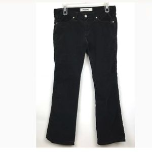 Mavi Black Corduroy Pants Slim Boot Cut Sz 29/30