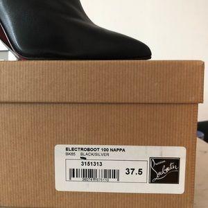 Christian Louboutin Shoes - Christian Louboutin Electroboot Black Bootie 37.5