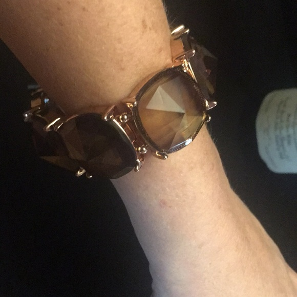 35 off Express Jewelry Express rose gold stretch bracelet amber
