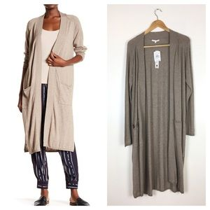 WILLOW & CLAY Taupe Duster Sweater