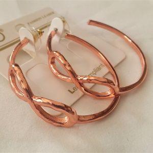 Jewelry - Copper Tone Infinity Hoop Earrings
