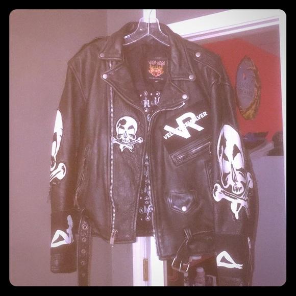 cbca84c2457c3 Marc Vachon Jackets & Coats | Custom Velvet Revolver Leather Jacket ...