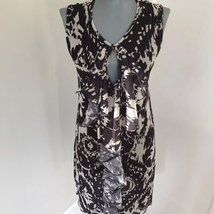sweet pea Shift Black and Creme Shift Size S Dress