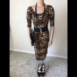 Leopard Print Midi Dress (Tall)