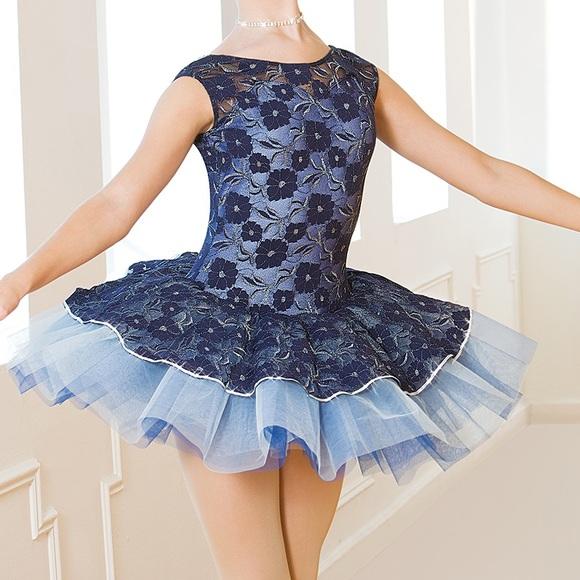 Revolution dancewear other blue lace ballet pancake tutu costume blue lace ballet pancake tutu costume ccuart Choice Image