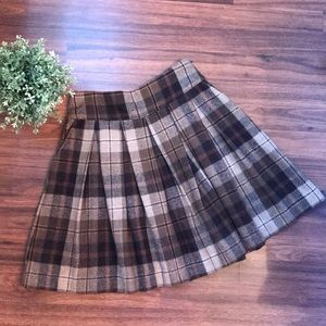 Mango wool plaid skirt