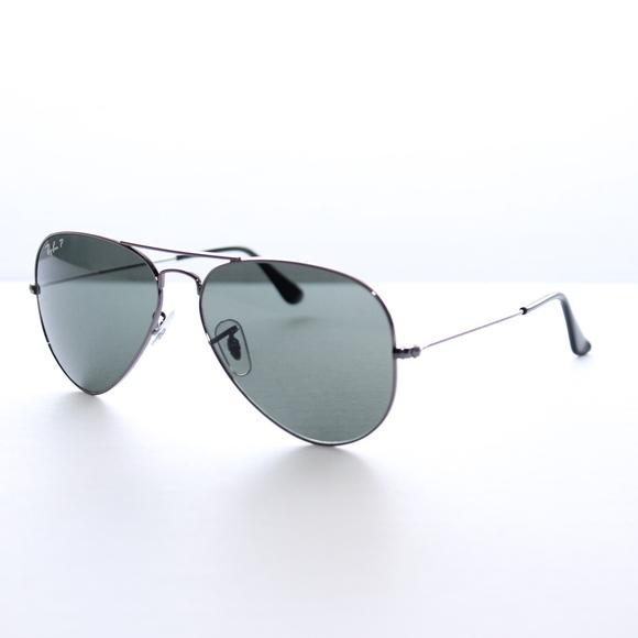5abec937415 Ray-Ban Polarized Gunmetal Green Classic G-15
