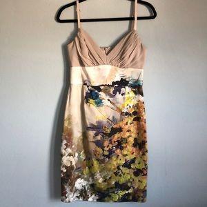 Black Halo Magnus Floral Watercolor Dress