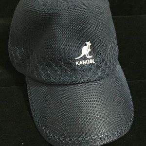 KANGOL Blue Mesh Baseball Strap Back Hat One Size