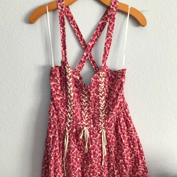 Free People Dresses & Skirts - FREE PEOPLE | Pink Floral Dress Size 4