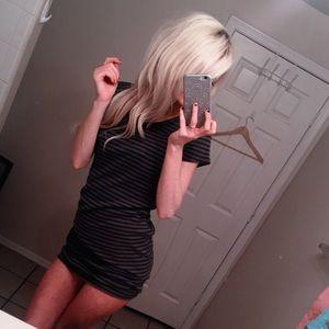 🦊 fσχу Green Striped T-Shirt Dress