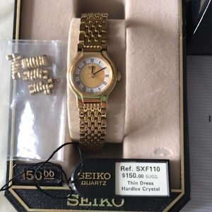Authentic SEIKO gold plated for lady
