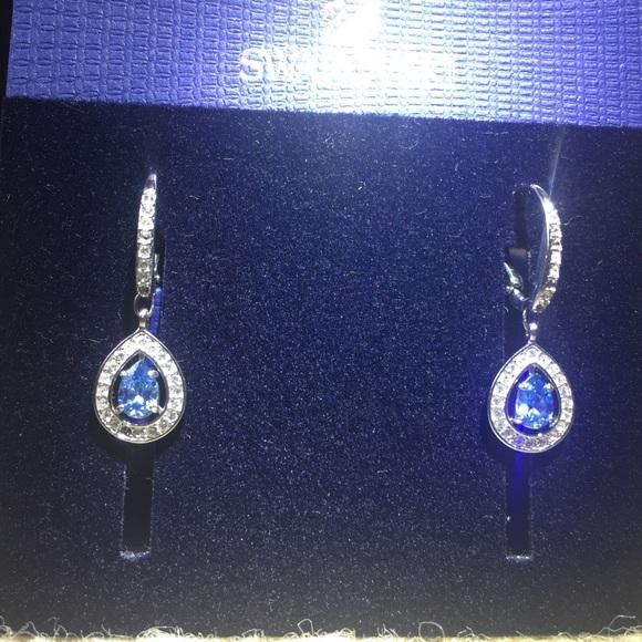 e466b0983 Swarovski Jewelry | Attract Light Pear Pierced Earrings | Poshmark