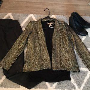 Gold foil shimmer jacket